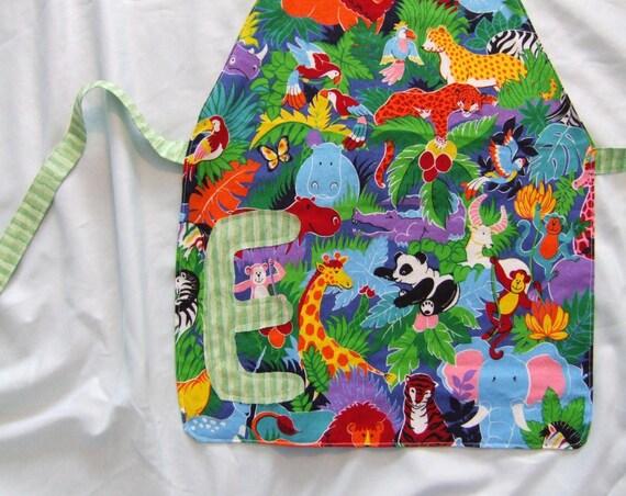 Personalized Toddler Boy Apron--Jungle theme