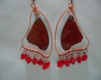 Butterfly Wing Chandelier Earrings