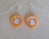 Peach shell earrings