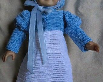 142  Spencer Jacket, Poke Hat Set - Crochet Pattern for American Girl Dolls