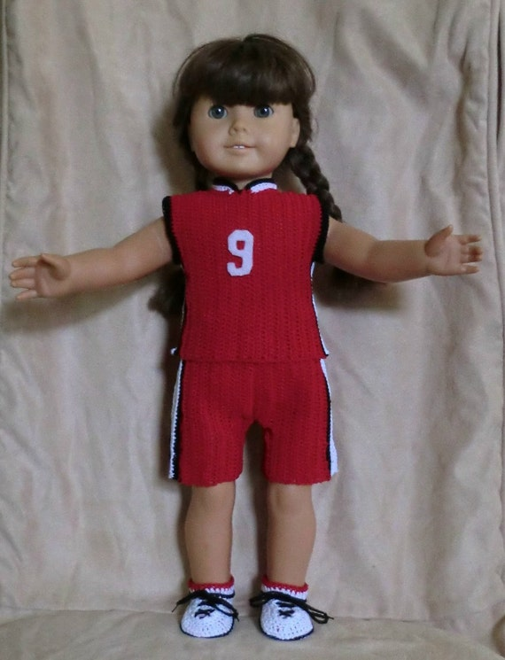 127 Basket Ball Set - Crochet Pattern  for American Girl Doll