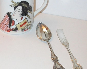 Sterling Silver Teaspoon and Butter Knife Towle Old Colonial Pattern