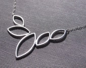 Marquise Silhouette Necklace in Silver