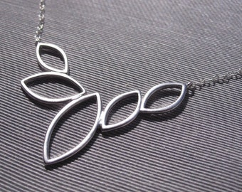 Marquee Silhouette Necklace in Silver