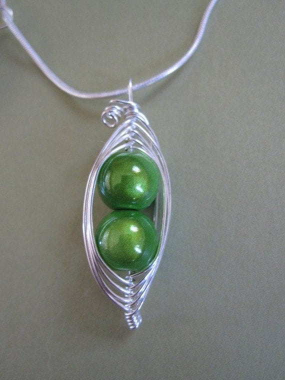 2 Sweet Peas in a Pod Necklace