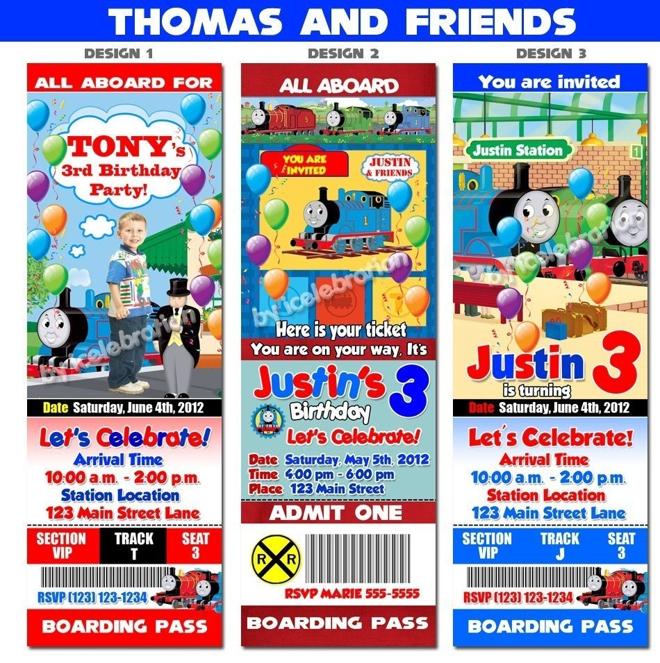 Free Printable Thomas The Train Invitations for great invitation layout