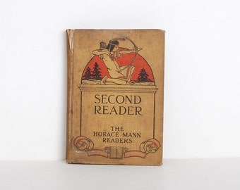 Vintage 1900s Childrens Second Reader Book
