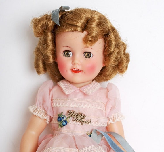 MIB 15 Inch Vinyl Shirley Temple Doll Pink Party Dress