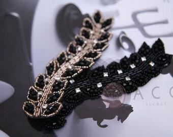 Type K  - 1Pcs Glass Beads Vine - Pick Your Colors - Black
