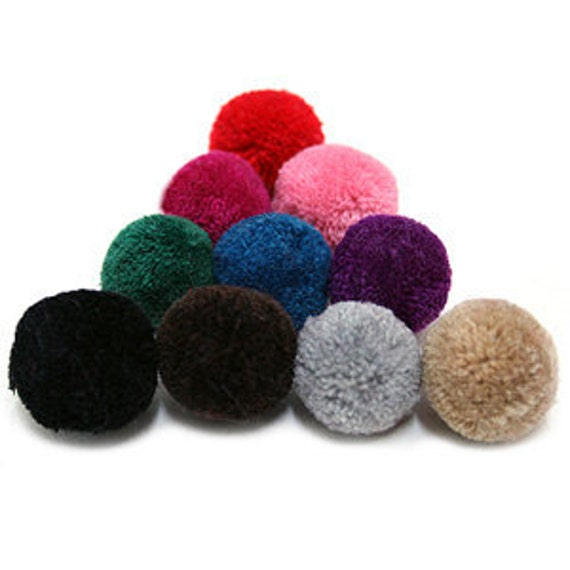 4Pieces - 30mm Yarn Pom Pom  - Pick Your Colors - 21 Different Colors
