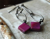 Festive Fuchsia Earrings