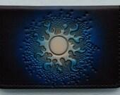 Business Card Case..Blue Sun