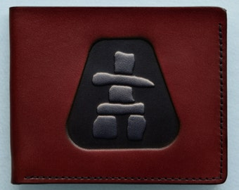 Leather Wallet / Inukshuk