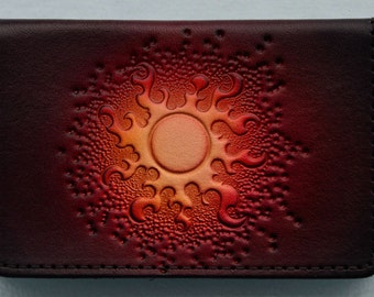 Business Card Case..Red Sun