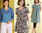 Japanese sewing pattern BOOK aFA summer blouse & tunic dress for women