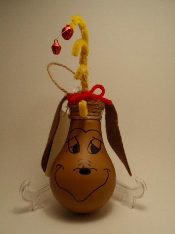 Max the grinch's dog Lightbulb Ornament