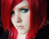 Poinsettia // Bright Red // Straight Long Layered Wig