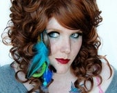 STOREWIDE SALE Island Escape // Medium / Long - Real Feathers - Clip in Hair Extension // Blue, Green, Peacock and More
