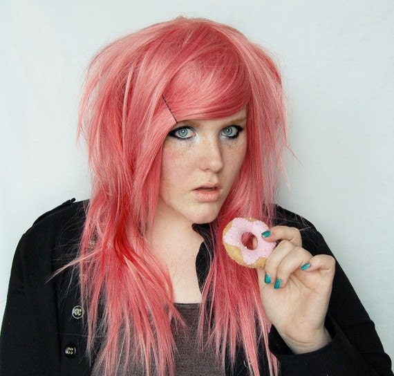 cotton candy wig sweet pink scene audrey by