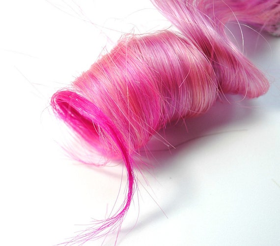 Sugar Sugar / Human Hair Extension / Pink / Medium Tie Dye Colored Hair