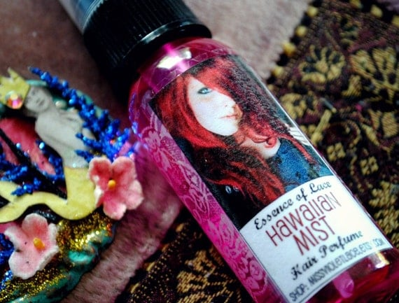 Hawaiian Mist // Hair Perfume for Wigs, Extensions and Hair Pieces / Synthetic and Human Hair Spray Fragrance