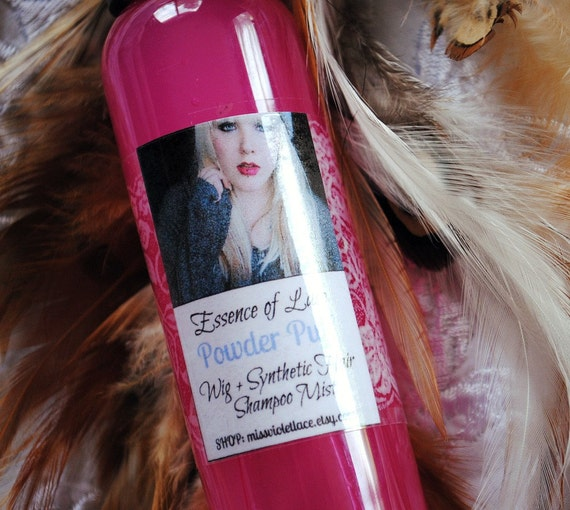 Powder Puff // Shampoo Mist // For Synthetic Hair Wigs, Dreadlocks, Extensions and more