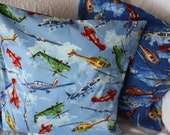 Cushion cover, planes, helicopters, navy