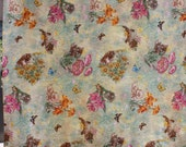 Cats at play in the flowers PILLOWCASE,  junior size