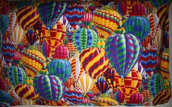 Hot air balloon pillowcase, standard size