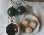 coffee and beignets earrings