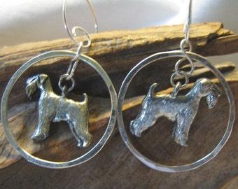 airedale hoop earrings