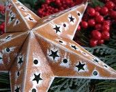 Rustic Star Cut-out Ornament