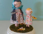 Grandmother and Granddaughter Dolls