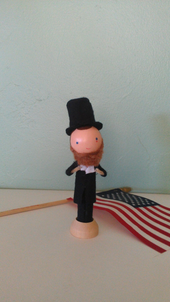 Abraham Lincoln Clothespin Doll