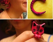 from 6.5mm to 9mm (2g to 00g)PAIR Handmade custom CAT PLUGS gauges