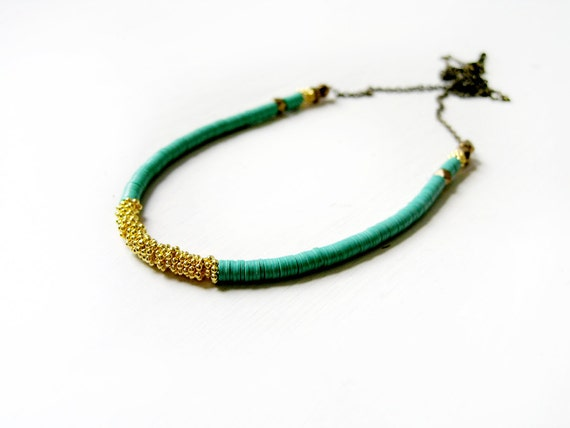 LAST ONE Green gold necklace