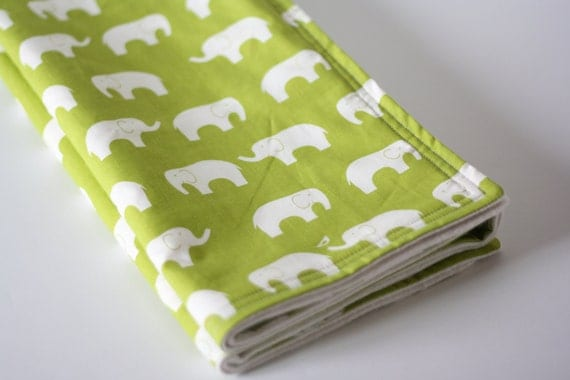 Organic Blanket, with Ellie Farm in Grass and Certified Organic  Fleece