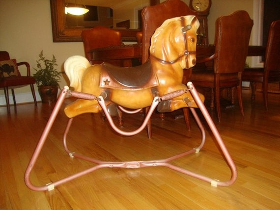 Vintage Toys From The 60s : Items similar to vintage toy spring horse wonder