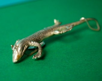 Sterling Silver Lizard Pendant - Free Domestic Shipping to US