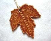 True Colors Of Autumn Maple Leaf Ceramic Pendant