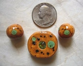 Oriental Dragon Sparkle Ceramic Beads (3)