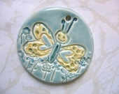 The Unusual - Happy Butterfly Ceramic Pendant
