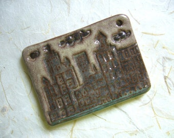 Lights Out In The City Ceramic Pendant
