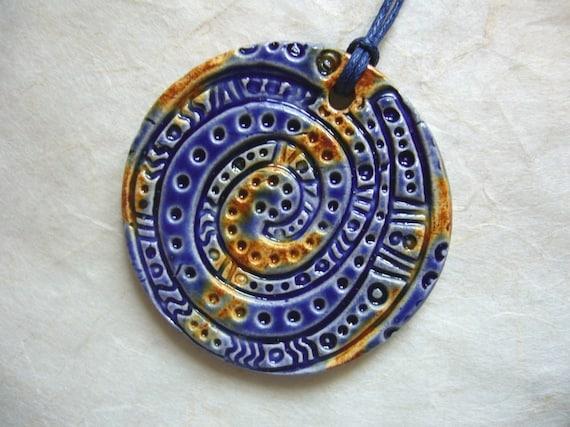 The Unusual - Blue Moon Ceramic Pendant