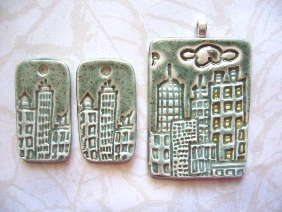 Sage Brush City Ceramic Pendant Set