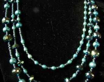 Glittery green blue for neck wrist ears