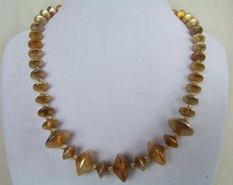 Rich golden tones necklace w earrings