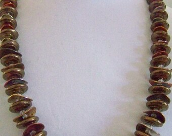Impressive muted colors necklace with earrings