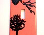 Black Bird Raven Tree Light Switch Plate