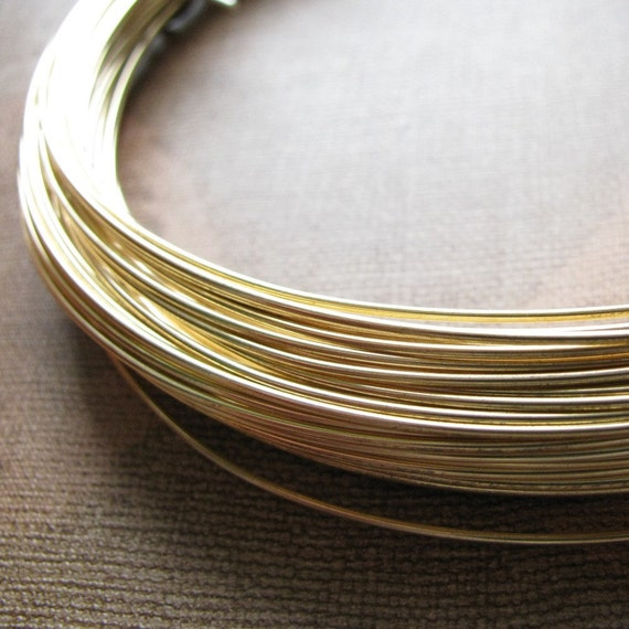 20 Feet Jewelers Brass - 19 gauge - Half Hard Wire - Round